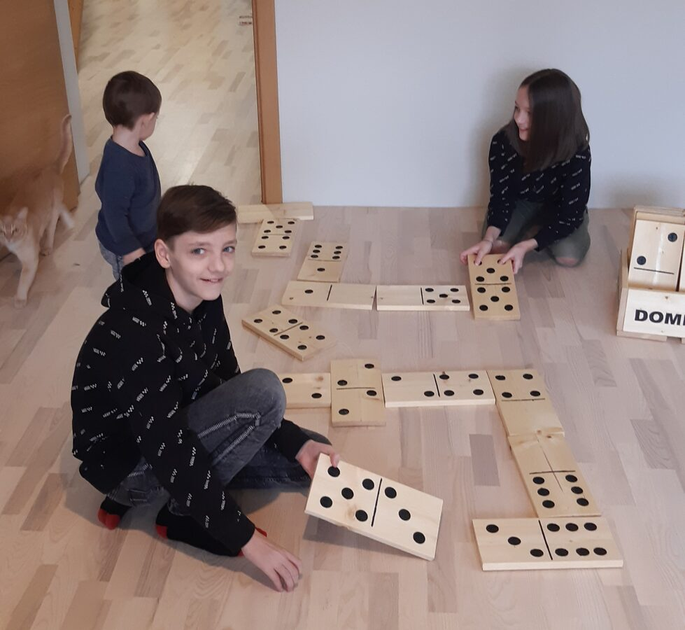 Children's made dominoes