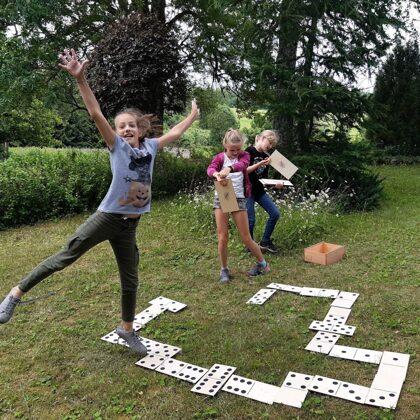 Lielais Domino. Dārza domino. Lielformāta spēles.
