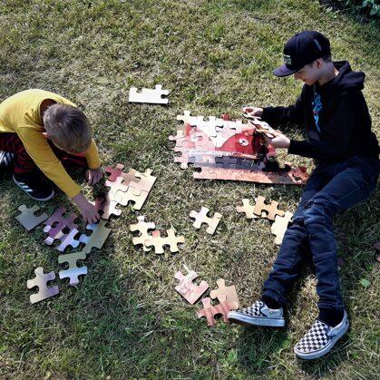 Lielformāta Puzle. XL puzle. Izklaide. Lielformāta spēles. Bērnu izklaide kāzās. Bērnu spē