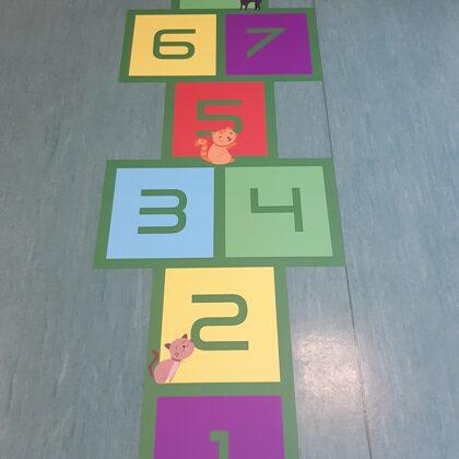 Grīdas uzlīmes. Uzlīmes bērnudārziem. Grīdas klasītes.