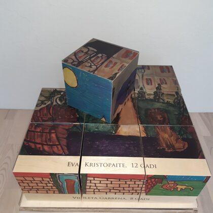 Головоломка из деревянных кубиков. Производство игр.